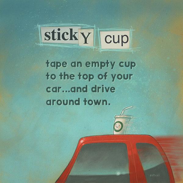 sticky-cup