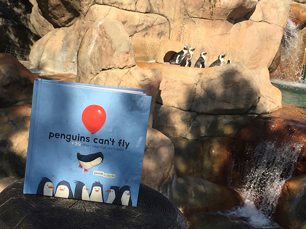 penguins-exhibit-with-book