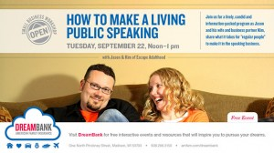 SMALL BUSINESS WORKSHOP: How To Make a Living Public Speaking
