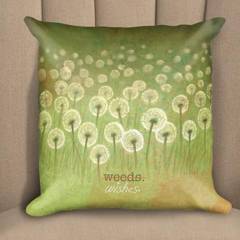 Weeds or Wishes Pillow