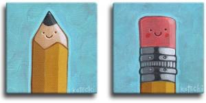 Pencil & Eraser