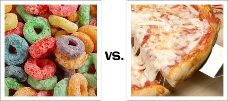 Image result for cereal and pizza