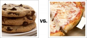 Chocolate Chip Cookies vs. Pizza