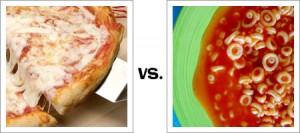 Pizza vs. Spaghetti O's
