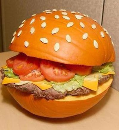 hamburger pumpkin carving1 Pumpkin Carving Contests