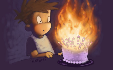 Image result for cake on fire