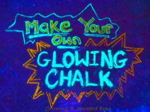 How to Make Glowing Chalk