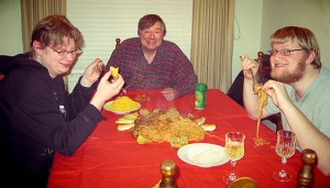 Family Turns Christmas Eve Dinner Into a Barbarian Affair