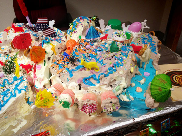 Ugly birthday cakes