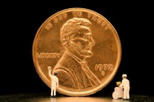 Woman Sees City Streets as Giant Take a Penny, Leave a Penny Repository