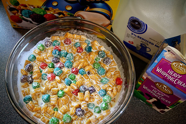 How to make crunch berry ice cream then put the bowl in the fridge for awhile allowing the cereal to get good and soggy ccuart Gallery