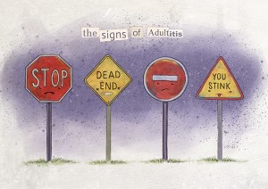 Signs of Adultitis