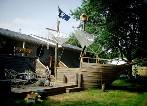 Dude Transforms Deck Into Pirate Ship