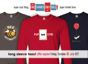 One Chance Only Sale: Long Sleeve Tees!