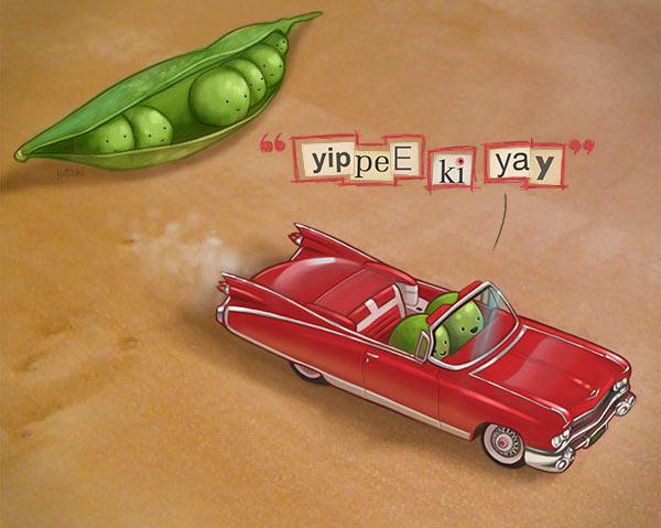 yippee-ki-yay-peas
