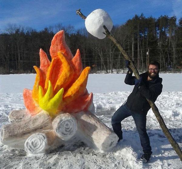 snow-campfire