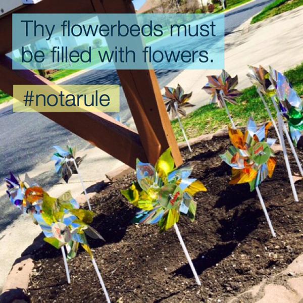 pinwheel-flowerbed