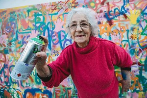 Saturday Morning Sprinkles: Grandma Does Graffiti Edition
