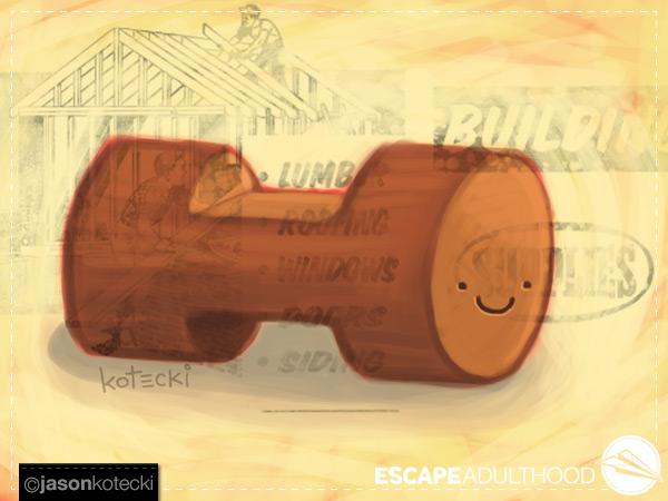 lumber-log