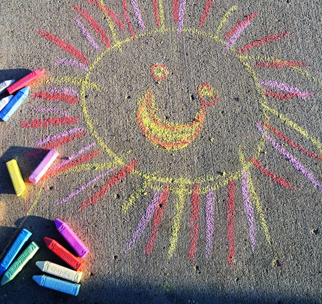 chalk-sun