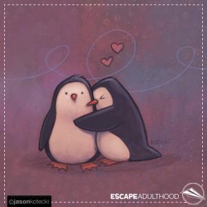 Penguin Hug